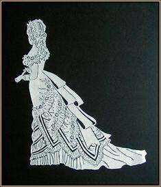 Paper Cut Victorian Gown