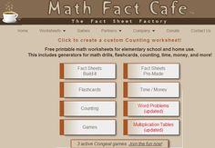 Maths sheets Maths Resources, Math Activities, Free Printable Math Worksheets, Free Printables, Creating Games, Math Drills, Math Sheets, Math Facts, Math For Kids