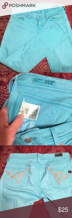 Citizens of humanity jeans Cute teal stretch ankle length and skinny leg. Size 28 Citizens Of Humanity Jeans Ankle & Cropped