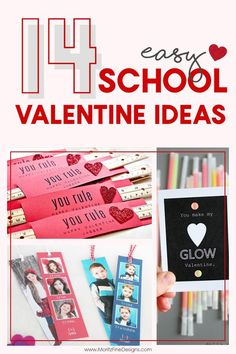 Do you need an easy and fast idea for your kid's Valentines this year? Check out this great DIY list of 14 Easy School Valentine Ideas even your kid's can make! Lots of candy free valentine ideas too! #ValentinesDayIdeas #KidsValentinesIdeasforSchool #ValentinesDayCrafts #SchoolValentineIdeas