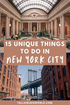 Here are 15 of the most unique things to do in New York City, from a local's perspective. underrated things to do in NYC | unusual things to do in New York City | hidden gems in NYC | underrated NYC attractions | unique activities in New York City | unique places to visit in NYC | what to do in NYC | things to see in NYC | New York City travel guide | NYC travel tips | top tips for visiting NYC | #NYC #NewYorkCity New York City Travel, New York Travel Guide, Visit New York City, New York Vacation, Travel Tips, Travel Guides, New York City Trip, Travel Destinations, Nyc Tourist Attractions