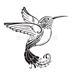 Been thinking about getting a tattoo. Hummingbird Drawing, Hummingbird Tattoo, Body Art Tattoos, Tribal Tattoos, Small Tattoos, Tribal Phoenix Tattoo, Wood Burning Stencils, Wood Burning Patterns, Henna Designs