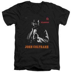 JOHN COLTRANE/COLTRANE - S/S ADULT V-NECK 30/1 - BLACK -