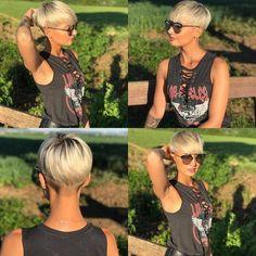 Kurzes Haar, Sexy Look – - Best Diy Hair Styles Funky Hairstyles, Short Hairstyles For Women, Hairstyles Videos, Hair Inspo, Hair Inspiration, Corte Y Color, Haircut And Color, Pixie Haircut, Pixies