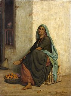 La marchande d,orange - Louis Emile DE Grandchamp 1831 - 1894