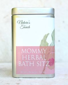 Mommy Herbal Bath Soak - $20 ---------------------------------------- Herbs can be wonderful after birth and can help speed up recovery. The tea bag ingredients are traditionally used to soothe after-birth discomforts (perineal swelling, hemorrhoids, episiotomy and tearing.)
