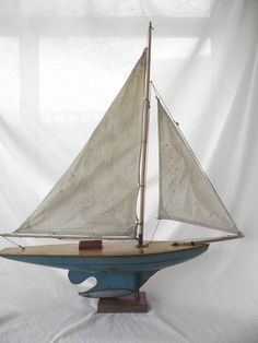 "1930's Hobbies ""Norfolk"" original Pond Yacht"