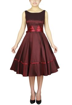 1950s inspired Satin Sash Dress By Amber Middaugh $31.47  ---  with coupon code: AMBER37