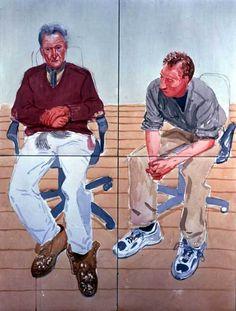 Lucian Freud and David Dawson, 2002 David Hockney