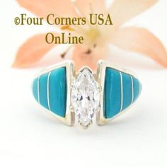 Four Corners USA Online - Size 7 Turquoise Inlay Solitaire Ring Navajo Ella Cowboy ER-1502, $169.00 (http://stores.fourcornersusaonline.com/size-7-turquoise-inlay-solitaire-ring-navajo-ella-cowboy-er-1502/)