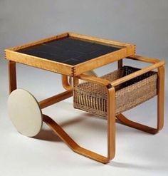 Alvar Aalto's Tea Trolley with beautiful patina.