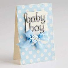 Baby Cards and Announcements: Boy Blue Card