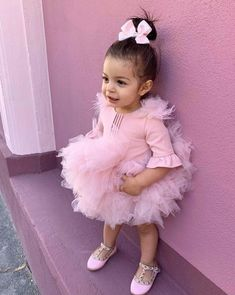 Cute Kids Fashion, Baby Girl Fashion, Cute Animals Puppies, Kendall, Princess Flower, Purple Wallpaper Iphone, Dad Baby, Cute Babies, Kids Outfits