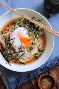 オクラ納豆そうめん。 by 栁川かおり 「写真がきれい」×「つくりやすい」×「美味しい」お料理と出会えるレシピサイト「Nadia | ナディア」プロの料理を無料で検索。実用的な節約簡単レシピからおもてなしレシピまで。有名レシピブロガーの料理動画も満載!お気に入りのレシピが保存できるSNS。 Asian Recipes, Real Food Recipes, Great Recipes, Dinner Recipes, Cooking Recipes, Healthy Recipes, Ethnic Recipes, Cafe Food, Food Menu
