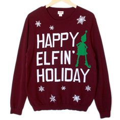 #ArianaGrande #SantaTellMe #HappyElfinHoliday #UglyChristmasSweater #christmas #sweater