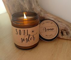 Soul Sister Candle Gift. 9 oz Hand Poured Soy Candle. Completely Handmade in Astoria, Oregon. Comes ready to gift in a lovely gift box. Perfect Holiday Gift or Anytime Gift! After purchase, please ema