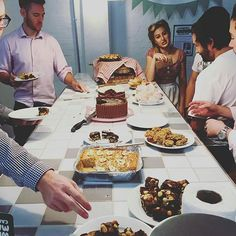 Tucking in at Whitechapel! #whitechapel #cakesale #1950's #vintage #aldgate #community #event #toglife #offices #coworking 📸 by @laurenphoebe