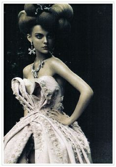 Jessica Stam photographed by Paolo Roversi for Vogue Italia, couture supplement, 2009,
