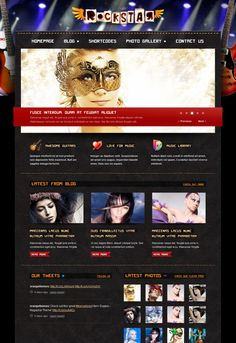 ROCKSTAR MUSIC BAND WORDPRESS THEME BY THEMEFOREST Get this template from: http://themeforest.net/?ref=Vision7Studio