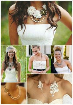 I love the variety in these bridal necklaces...