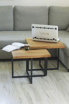 2 x Stolik kawowy dąb /rustykalny design drewniany metal loft stół Warszawa - image 1 Living Room, Table, Furniture, Home Decor, Decoration Home, Room Decor, Sitting Rooms, Living Rooms, Tables