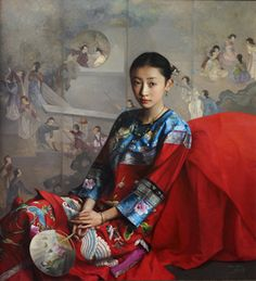THE EMOTION OF DAUGHTER-II, by Zhao Kailin (b1961, Bengbu, AnHui Province, China)