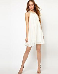 Bild 4 von Jarlo – Verziertes Swing-Kleid mit rundem Kragen