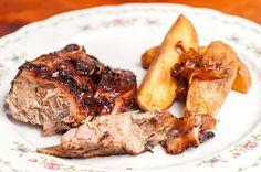 Αρνάκι με πατάτες στο φούρνο (της κας Γεωργίας) South African Recipes, Greek Recipes, Steak, Pork, Beef, Chicken, Kale Stir Fry, Meat, Greek Food Recipes
