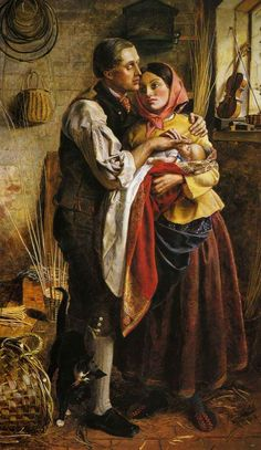 Blind Basket Maker With His First Child (1856) by George Elgar Hicks