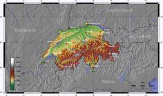 Topographic Map of Switzerland