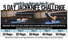 5 Day Jackknife Challenge — GREAT for building strong abs & back!