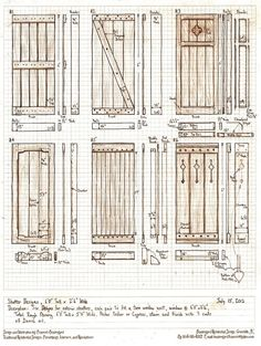 It looks like I'm going to be making some exterior shutters for a house this summer, so here's The Sunday morning design project: design six exterior sh. Six Exterior Shutter Designs House Shutters, Wood Shutters, Window Shutters, Exterior Shutters, Cottage Shutters, Outdoor Shutters, Shutter Designs, Hurricane Shutters, Mawa Design