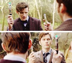 That awkward moment when the Doctor is jealous of the Doctor's screwdriver. :)