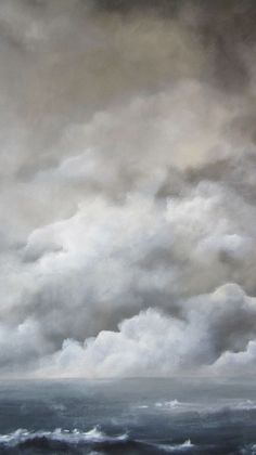 [CasaGiardino] ♛ Acrylic on canvas- Caroline Lingwood Landscape Art, Landscape Paintings, Watercolor Clouds, Painting Clouds, Sky And Clouds, Art Techniques, Painting Inspiration, Painting & Drawing, Art Gallery