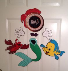 Princess Ariel Mermaid and flounder and Sebastian Minnie Mouse Body Part Stateroom Door Magnets for Disney & Disney Cruise Magnets for stateroom door by DisneyforFUN on Etsy ... Pezcame.Com