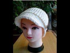 #4 Newsboy Hat (Visor) Loom Knitted/Addi Machine Part 1 - YouTube