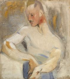 Helene Schjerfbeck (Finnish, The Sailor (Einar Reuter), Oil on canvas, 70 x cm. source via amare-habeo Helene Schjerfbeck, A4 Poster, Poster Prints, Female Painters, Drawing School, Royal Academy Of Arts, Art Academy, Art Society, Vintage Artwork