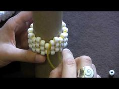 Peyote stitch on tube - How to - Easy way to learn, Part 1 of 2