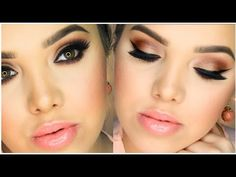 ▶ Bronze Eyes & Peach Lips | Spring Makeup Tutorial - YouTube