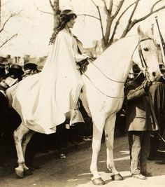 Inez Milholland on White Horse