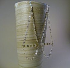 Long Moonstone and Labradorite Beaded Silver Plated by MadeByMame, $42.00