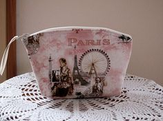 Cosmetic Bag Clutch Zipper Purse Scenes of by Antiquebasketlady, $12.00 #teamsellit