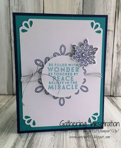handmade christmas card, christmas card, handmade card, snowflakes, silver cording trim, rhinestones, turquoise & navy, DIY, demonstrator, paper crafting, card, hobby, easy, rubber, stamps, stamping, craft, paper, *Stampin' Up, by Amy Frillici, Gathering Inkspiration