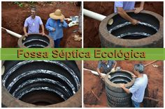 Manual desenvolvido pelo DMAE de Uberlândia ensina como fazer uma fossa séptica ecológica com pneus reaproveitados de caminhões. Veja aqui como funciona! Diy Septic System, Septic Tank Systems, Small Septic Tank, Fossa Séptica, Septic Tank Installation, Food Storage Rooms, Outhouse Bathroom, Arched Cabin, Earth Bag Homes