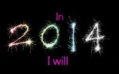 In 2014 I will…