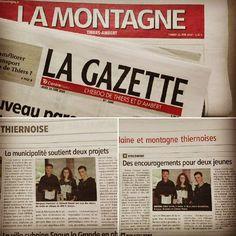 Parutions de la semaine dernière ! :) #articles #presselocale #soutien #financement #projet #Auvergne #myauvergne #LaMontagne #LaGazette #viscomtat #leprojetcontinue