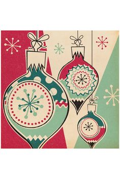 cards from Pennychoo...love vintage ornaments...want to do them in wool!