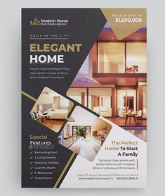 Real Estate Flyer Template is a stylish and elegant layout that can help you to connect with potential clients. This versatile flyer can be modified in PSD. Jazz Poster, Neon Poster, Gig Poster, Web Design, Graphic Design Flyer, Layout Design, Flyer Layout, Brochure Layout, Brochure Design