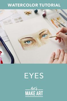 Interested in painting portraits? Get started with this new watercolor Eyes project! Click the link in our profile to paint with Sarah Cray and guest Taylor Lydic to learn all about faces and what it means to truly have fun when you create. #letsmakeart #watercolorpencil #watercoloreyes #watercolorportrait #howtopaintpeople Watercolor Eyes, Watercolor Art Diy, Watercolor Projects, Watercolor Brushes, Watercolour Tutorials, Watercolor Techniques, Painting Portraits, Watercolor Portraits, Watercolor Paintings