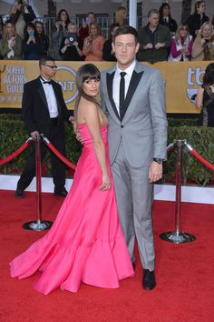 #Glee's Lea Michele and Cory Monteith on the Red Carpet at the 2013 SAG Awards